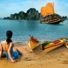 Explore Halong bay on private junk