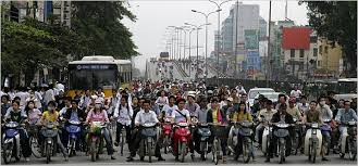 Traffic Jams in Vietnam