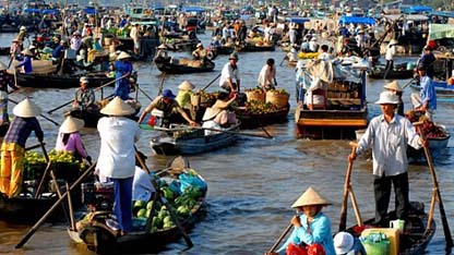 Cai Rang named among top floating markets