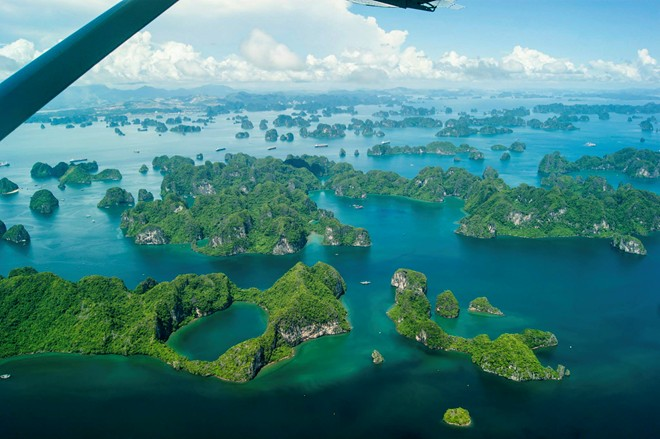 Majestic Ha Long Bay viewed from a seaplane-7